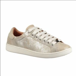 UGG Milo Stardust Metallic Suede lace up Sneaker